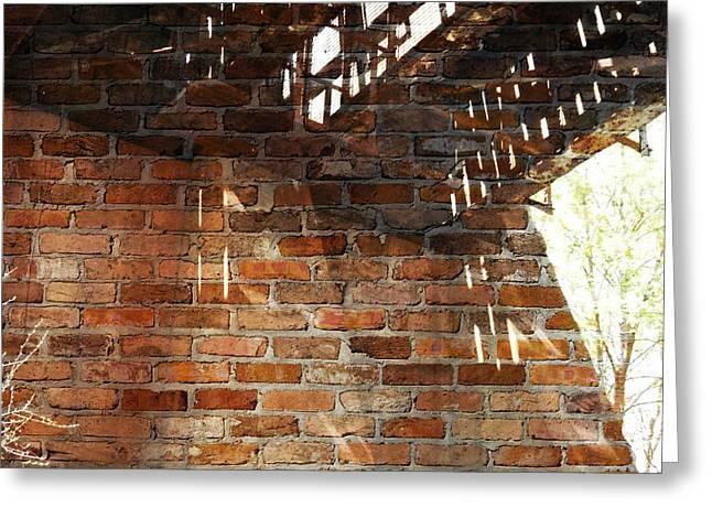 Brick And Rust Greeting Card