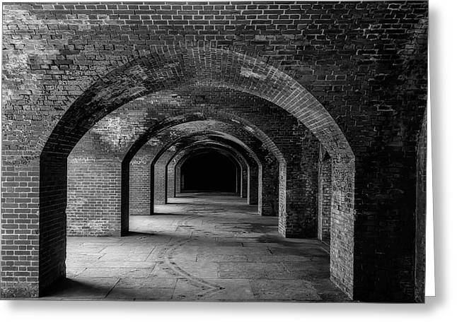 Brick Arches Ft Point Greeting Card by Garry Gay