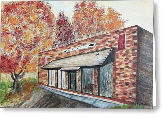 Brick Building Greeting Card by Suzanne  Marie Leclair