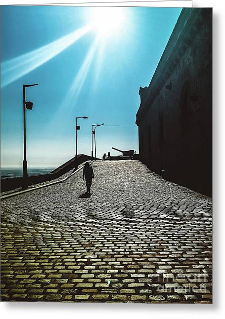 Greeting Card featuring the photograph Brick By Brick by Colleen Kammerer