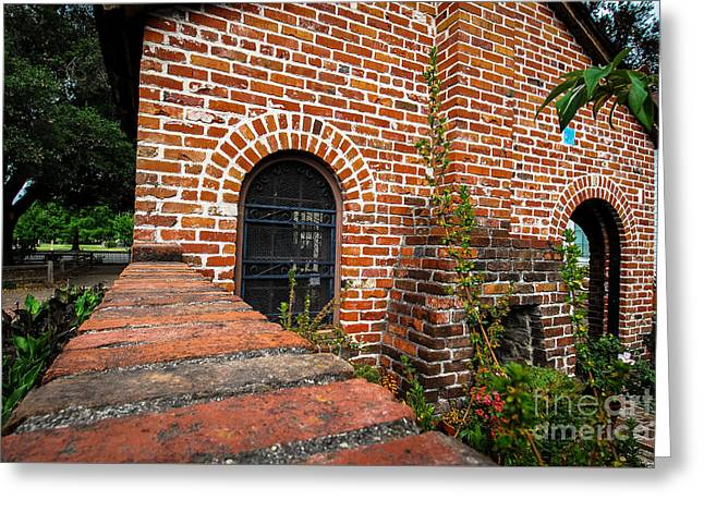 Brick Courtyard Greeting Card