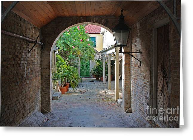 Brick Entryway Greeting Card