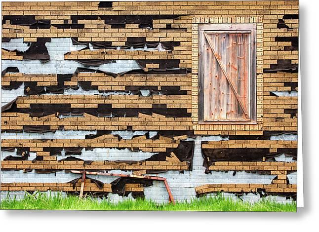 Brick Facade Greeting Card by Todd Klassy