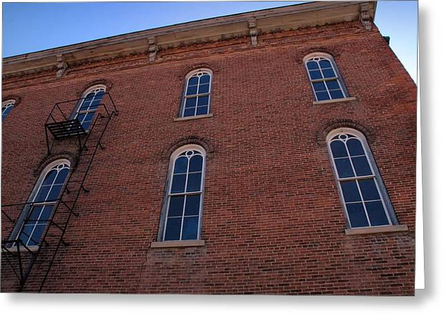 Brick Face Greeting Card by Ross Powell