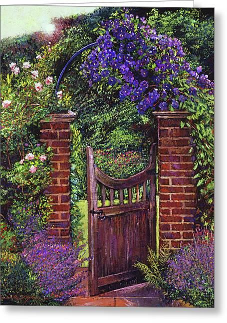 Brick Gateway Greeting Card by David Lloyd Glover