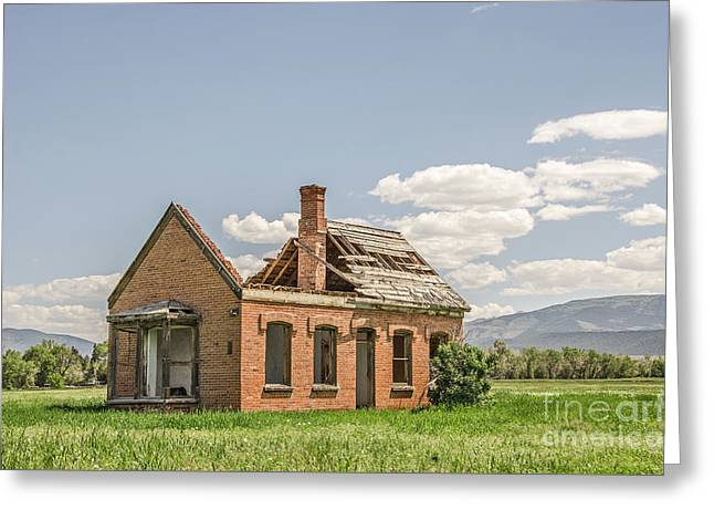 Greeting Card featuring the photograph Brick Home In June 2017 by Sue Smith