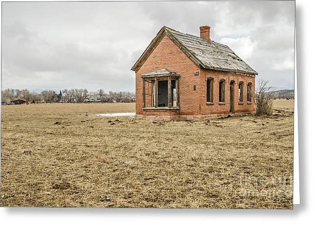 Greeting Card featuring the photograph Brick Home In November 2015 by Sue Smith