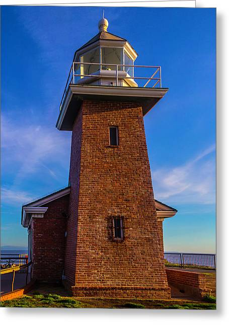 Brick Lighthouse Greeting Card