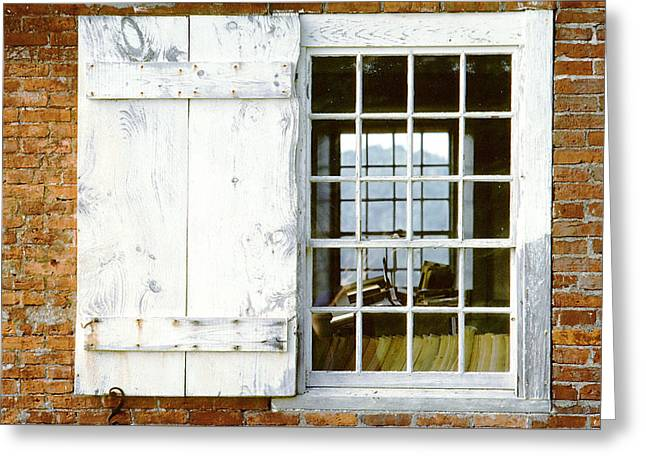 Brick Schoolhouse Window Photo Greeting Card
