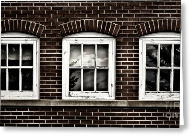 Greeting Card featuring the photograph Brick Trio by Brad Allen Fine Art