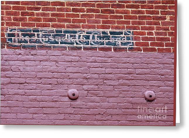Brick Wall Ad Greeting Card