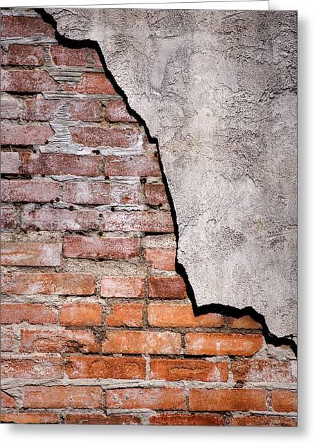 Brick Wall II Greeting Card