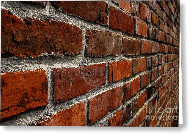 Brick Wall With Perspective Greeting Card