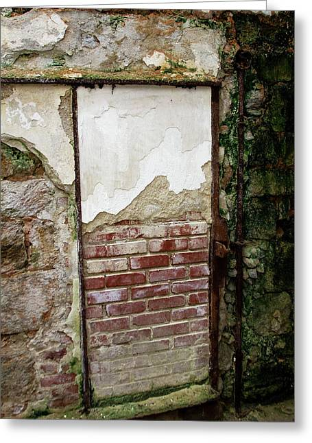 Bricked Up Cell At Eastern State Penitentiary  Greeting Card by Scott Kwiecinski