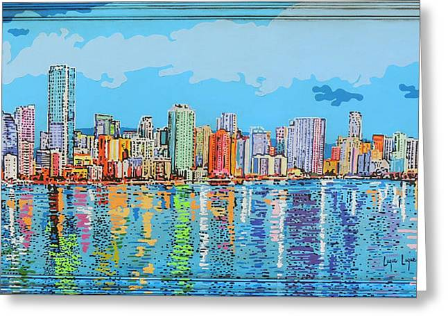 Brickell Bay Greeting Card by Luque Luque