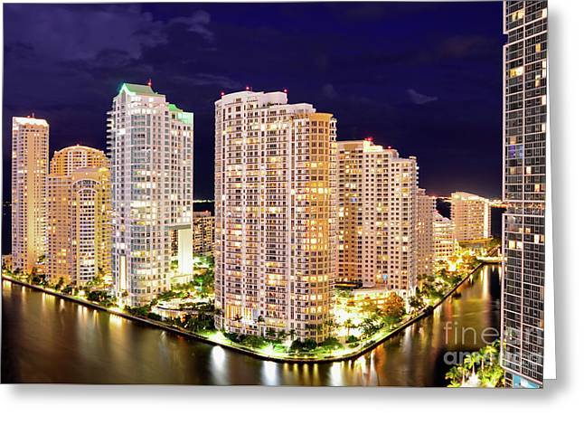 Brickell Key, Maimi, Florida Greeting Card by Craig McCausland