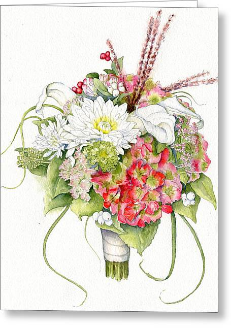 Bridal Bouquet Greeting Card