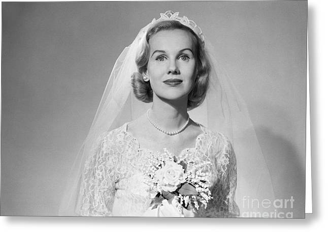 Bridal Portrait, C.1950s Greeting Card by Debrocke/ClassicStock