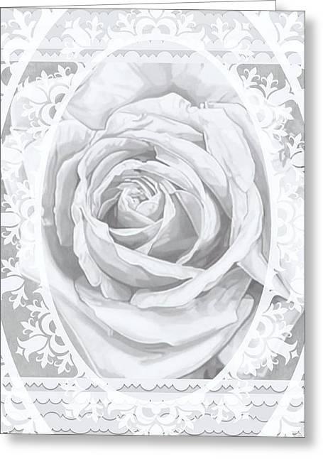 Bridal Rose Wedding Lace Greeting Card