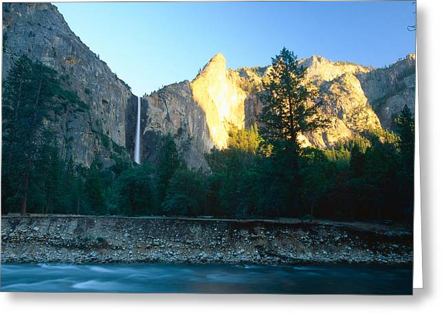 Bridal Vail Falls Sunset Greeting Card by George Oze