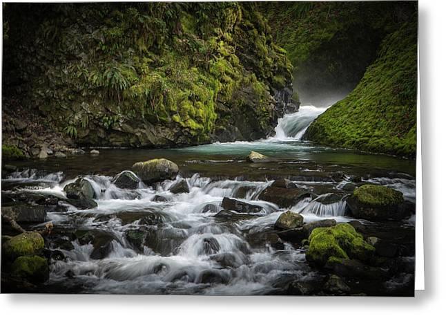 Bridal Veil Creek Greeting Card by Joe Hudspeth