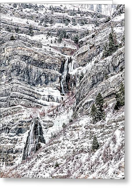 Greeting Card featuring the photograph Bridal Veil Falls Canvas Print,photographic Print,art Print,framed Print,greeting Card,iphone Case,s by David Millenheft