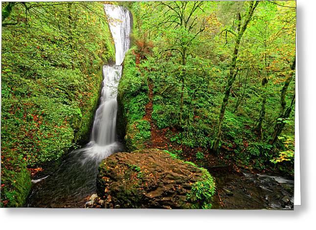 Greeting Card featuring the photograph Bridal Veil Falls by Jonathan Davison