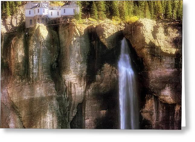 Bridal Veil Falls Power Plant - Telluride - Colorado Greeting Card by Jason Politte