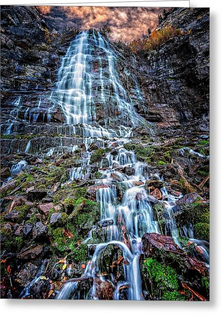Bridal Veil Falls Utah Greeting Card