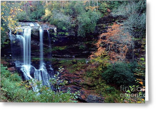 Greeting Card featuring the painting Bridal Veil Waterfalls by Debra Crank