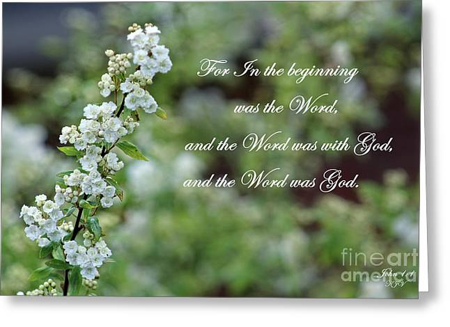 Bridal Wreath Christian Art Greeting Card
