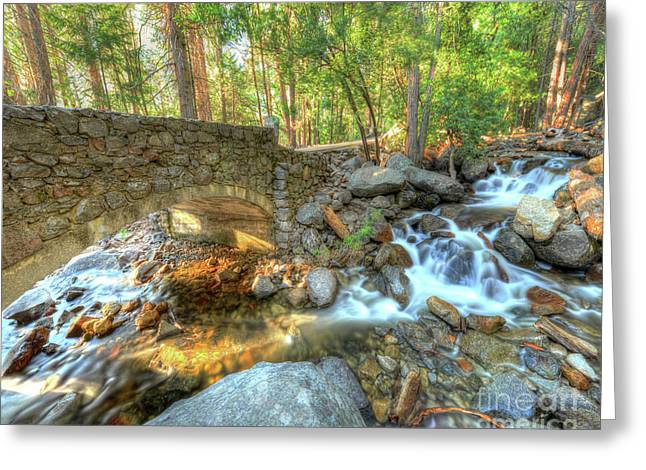 Bridalveil Creek At Yosemite By Michael Tidwell Greeting Card