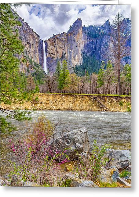 Greeting Card featuring the photograph Bridalveil Fall  by Scott McGuire