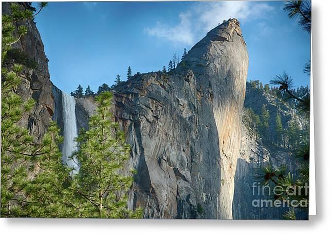 Bridalveil Fall Yosemite National Park Greeting Card by Terry Garvin