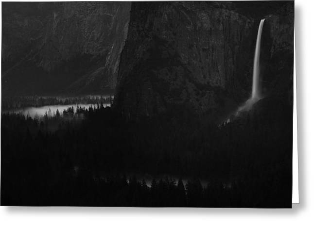 Bridalveil Falls Over Yosemite Valley Greeting Card