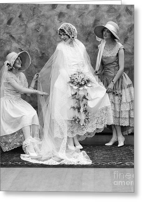 Bride And Bridesmaids, C.1900-10s Greeting Card by ClassicStock