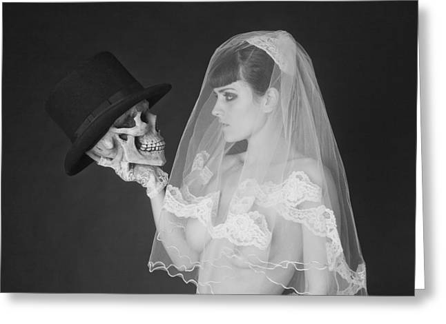 Bride And Groom Greeting Card by MAX Potega