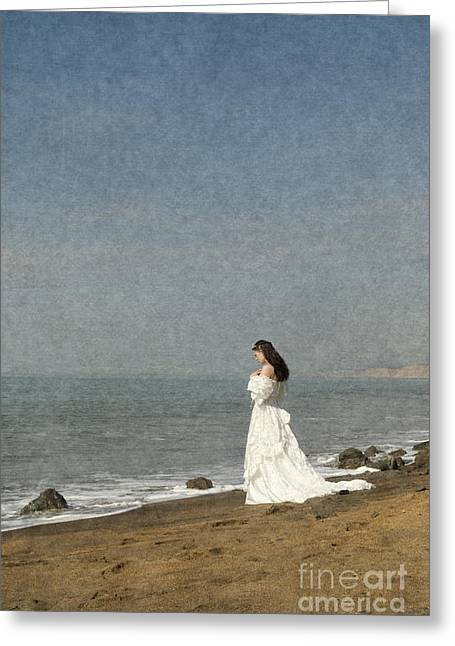 Bride By The Sea Greeting Card