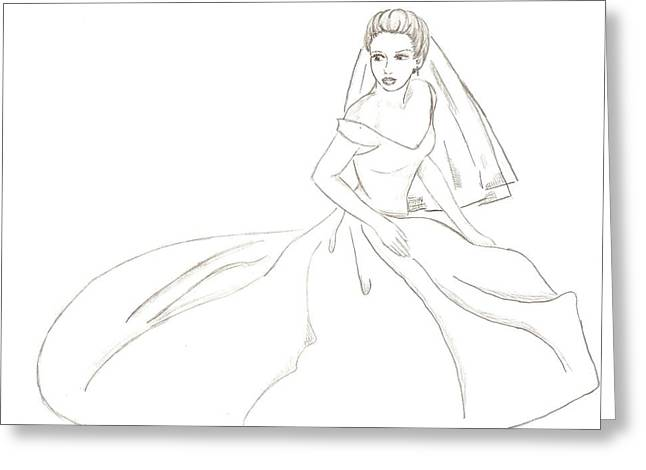 Bride Greeting Card by Michelle Kinzler