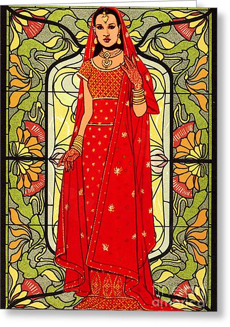 Bride Of India Greeting Card