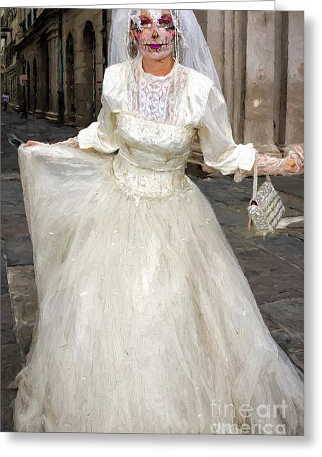 Bride Of Jackson Square Painted_nola Greeting Card by Kathleen K Parker