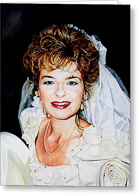 Bride Portrait Greeting Card by Hanne Lore Koehler