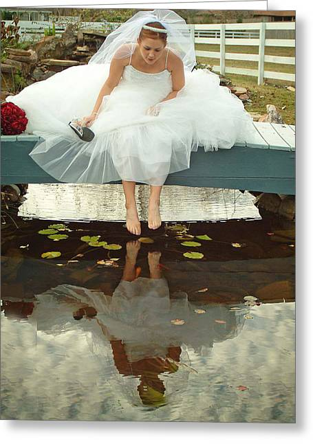 Brides Reflection Greeting Card by Ken Gimmi