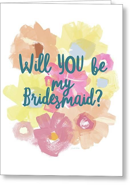 Bridesmaid Floral- Art By Linda Woods Greeting Card by Linda Woods
