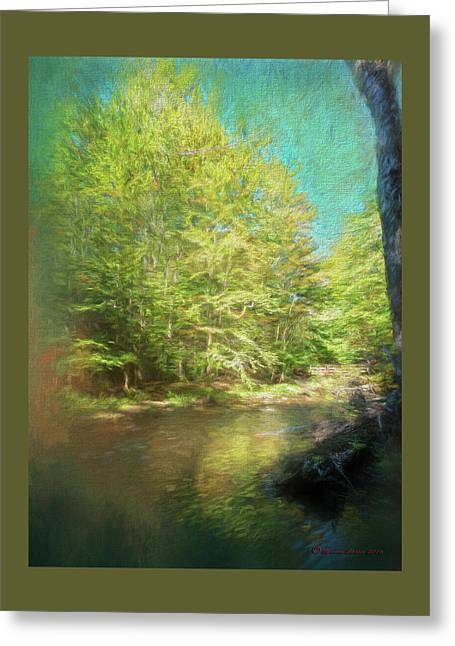 Bridge And Creek Greeting Card by Marvin Spates