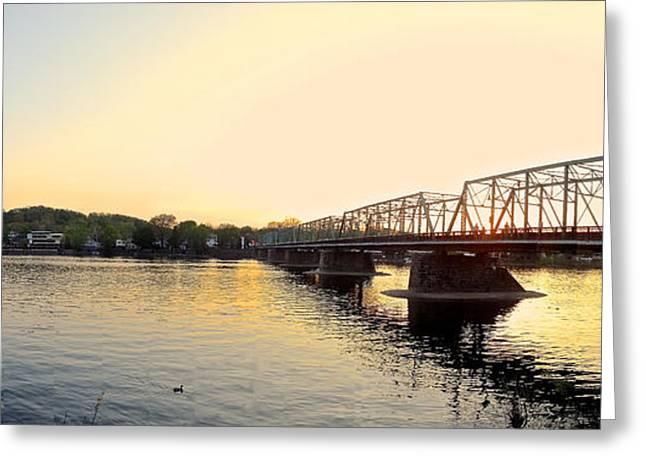 Bridge And New Hope At Sunset Greeting Card