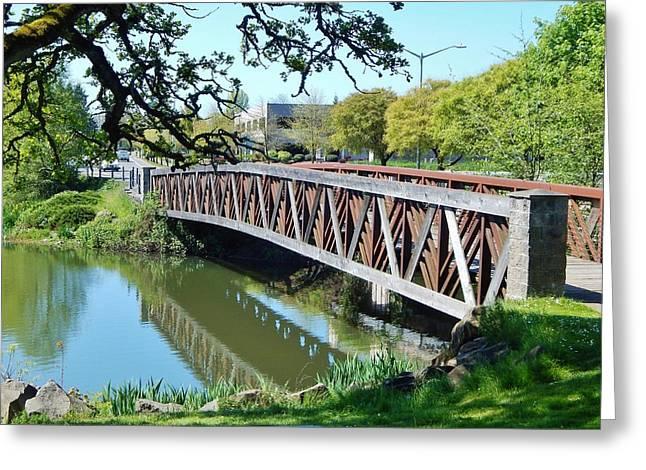 Bridge At Cox Creek Greeting Card