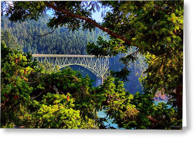 Bridge At Deception Pass Greeting Card