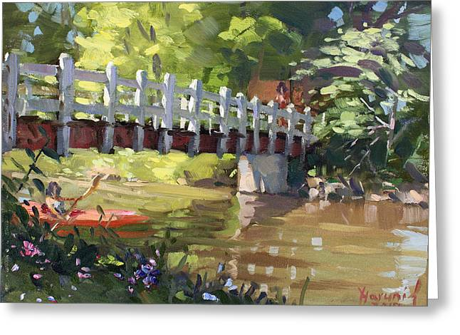 Bridge At Ellicott Creek Park Greeting Card