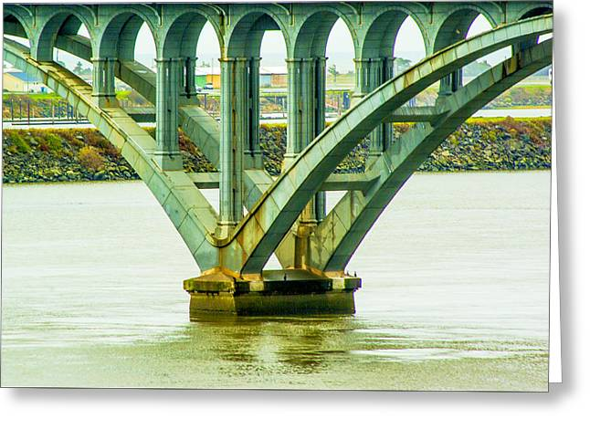 Greeting Card featuring the photograph Bridge At Gold Beach by Dale Stillman